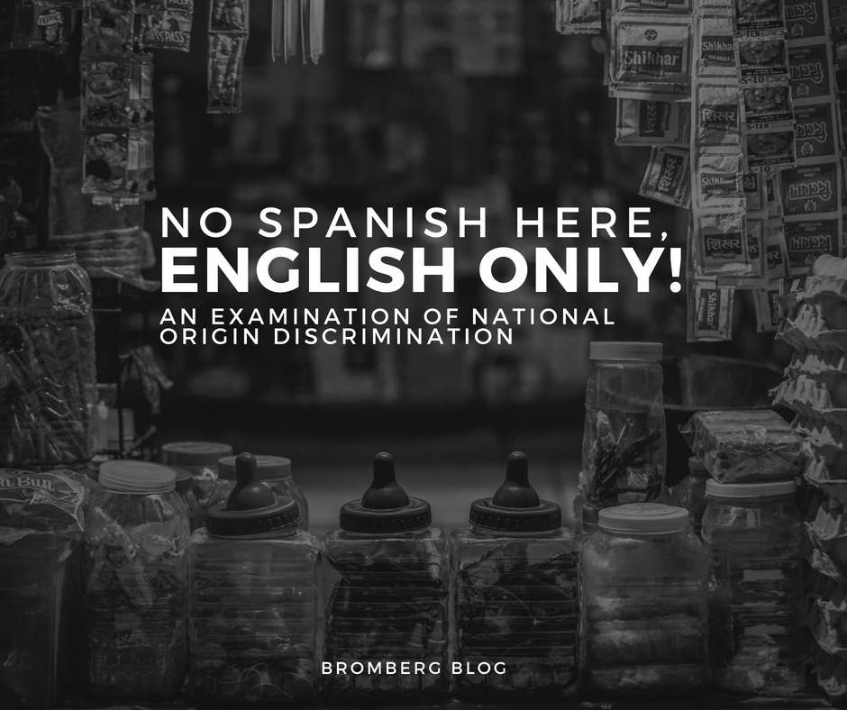 No Spanish Here – English Only!