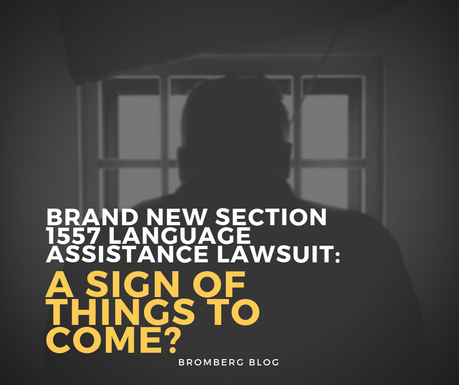 Brand New Section 1557 Language Assistance Lawsuit: A Sign of Things to Come?