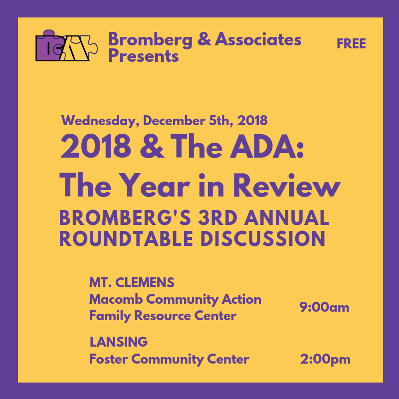Join Us For Our Third Annual Roundtable – 2018 & the ADA: The Year in Review