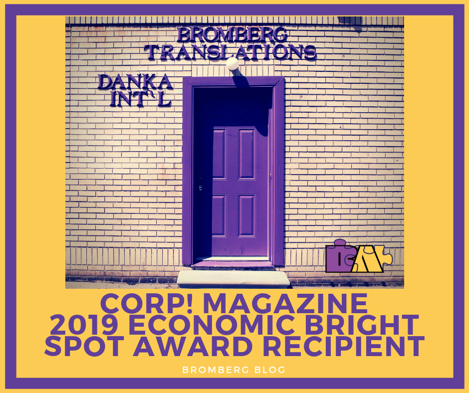 Bromberg & Associates Recognized as a Corp! Magazine 2019 Economic Bright Spot Award Winner