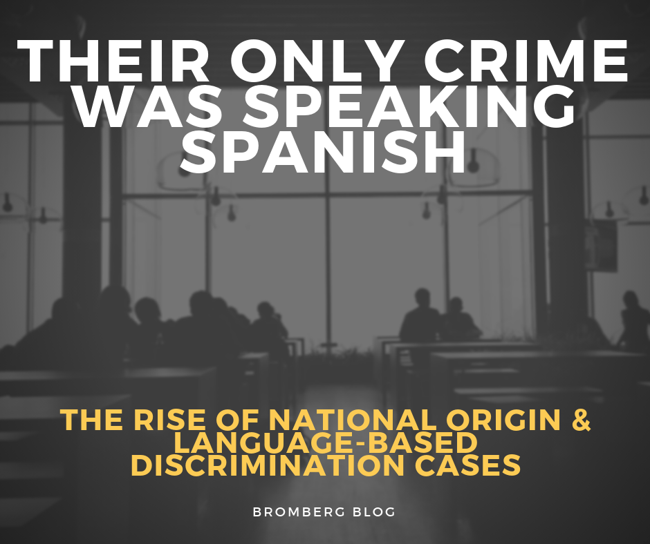 "The only probable ""crime"" was speaking Spanish"
