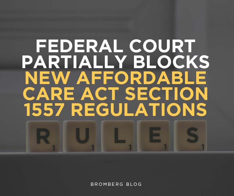 Federal Court has Partially Blocked the New Affordable Care Act Section 1557 Regulations