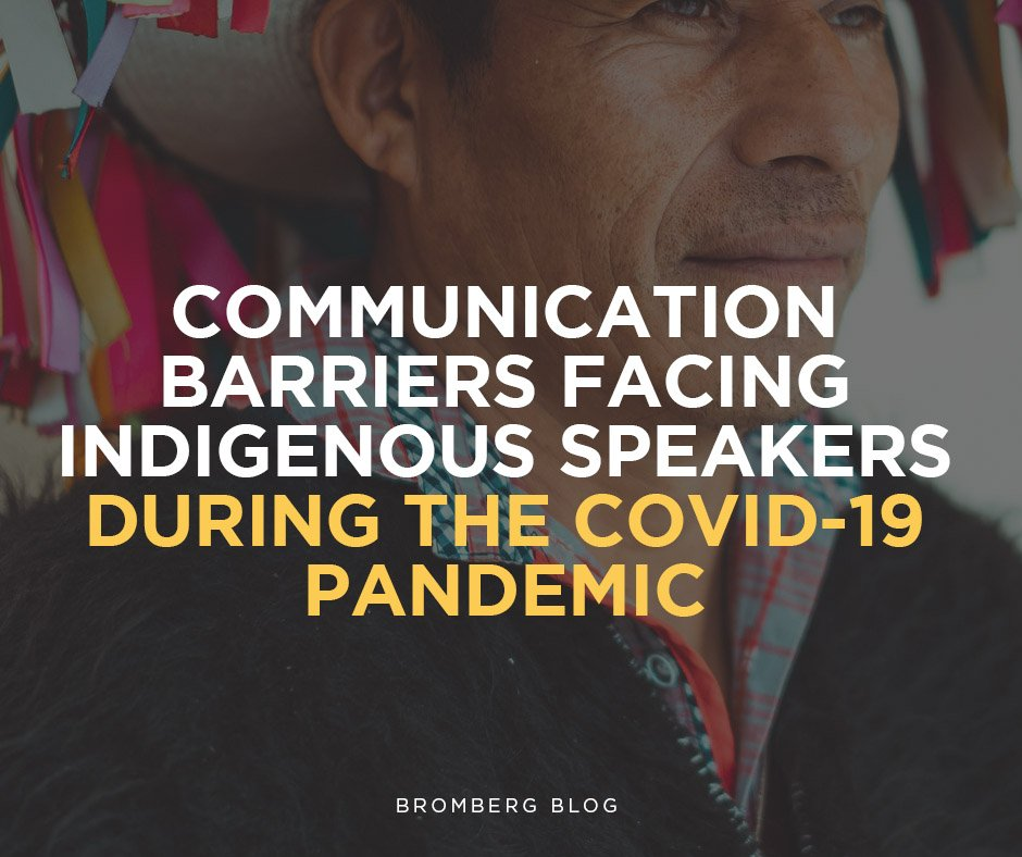 Communication Barriers facing Indigenous Speakers
