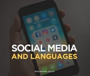 Social Media and Languages available