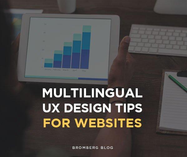 Multilingual UX Design Tips for websites